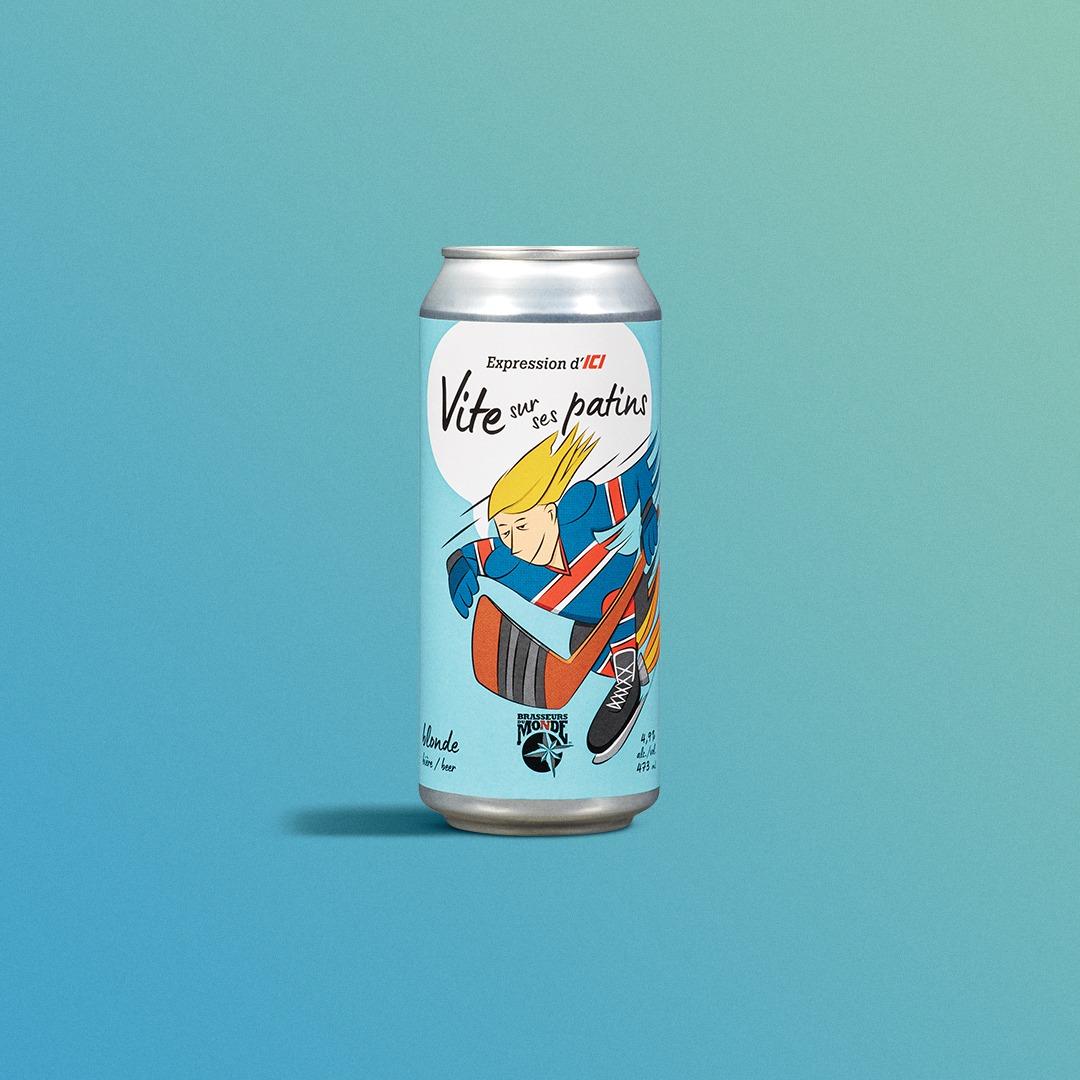 Bière Vite sur ses patins