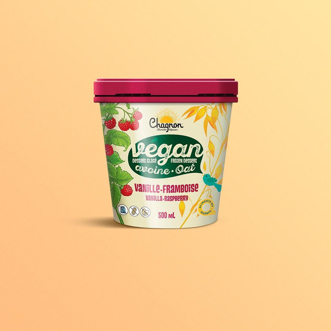 Crème glacée végane à la framboise Chagnon