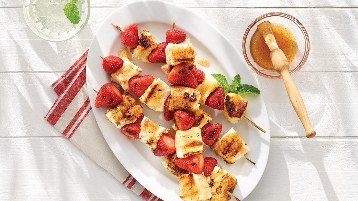 Brochettes de shortcake aux fraises