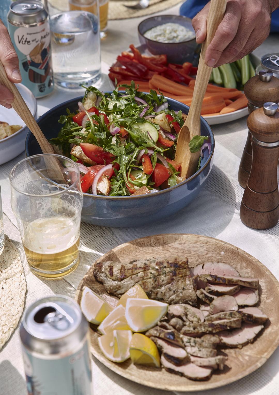 Salade grecque de souvlaki de Stefano